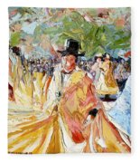 The Dance At La Paz Fleece Blanket