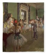 The Dancing Class Fleece Blanket by Edgar Degas
