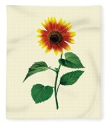 The Dancing Sunflower Fleece Blanket