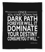 The Dark Path Fleece Blanket