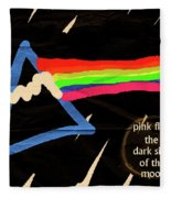 The Dark Side Of The Moon  Fleece Blanket