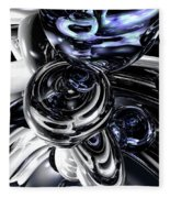 The Darkside Abstract Fleece Blanket