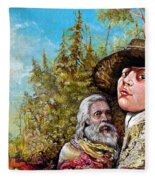 The Dauphin And Captain Nemo Discovering Bogomils Island Fleece Blanket