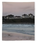 The Day Is Done At Long Sands Beach Fleece Blanket
