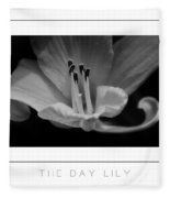 The Day Lily Poster Fleece Blanket
