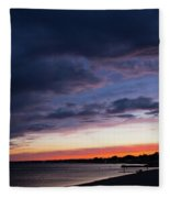 The Day Rests Fleece Blanket