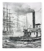 The Days Of Steam And Sail Fleece Blanket