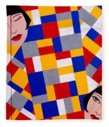 The De Stijl Dolls Fleece Blanket