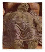 The Dead Christ 1478 Fleece Blanket