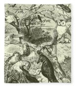 The Death And Burial Of Cock Robin Fleece Blanket