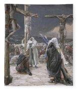 The Death Of Jesus Fleece Blanket