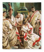 The Death Of Julius Caesar  Fleece Blanket