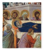 The Death Of Mary Fragment 1311 Fleece Blanket
