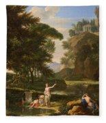 The Death Of Narcissus Fleece Blanket