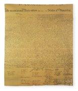 The Declaration Of Independence Fleece Blanket
