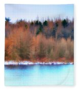 The Deep Forbidden Lake Fleece Blanket
