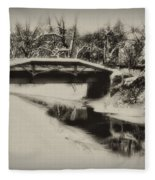The Delaware Canal At Washingtons Crossing  Fleece Blanket