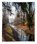 The Delaware Canal In New Hope Pa Fleece Blanket
