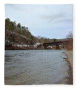 The Delaware River Fleece Blanket