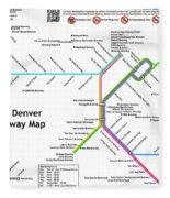 The Denver Pubway Map Fleece Blanket