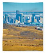 The Denver Skyline II Fleece Blanket