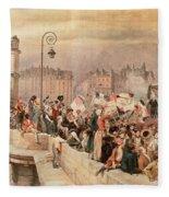 The Departure Of The Volunteers 1792 Fleece Blanket