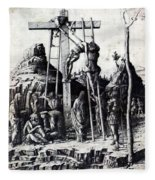 The Descent From The Cross 1475 Fleece Blanket