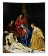 The Descent From The Cross Fleece Blanket