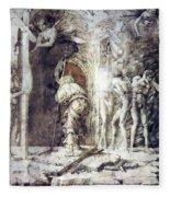 The Descent Into Hell 1468 Fleece Blanket
