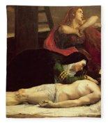 The Descent Of Christ From The Cross  Fleece Blanket
