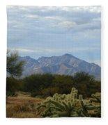 The Desert Landscape Fleece Blanket