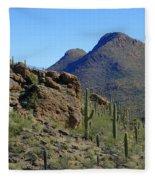 The Desert Mountains Fleece Blanket