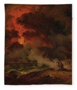 The Destruction Of Pompeii Fleece Blanket
