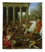 The Destruction Of The Temples In Jerusalem By Titus Fleece Blanket