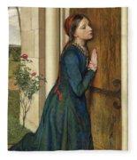 The Devout Childhood Of Saint Elizabeth Of Hungary, 1852 Fleece Blanket