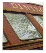 The Dining Car Fleece Blanket