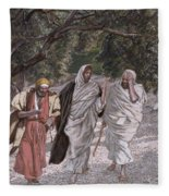 The Disciples On The Road To Emmaus Fleece Blanket