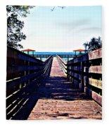 The Dock At Lake George  Fleece Blanket