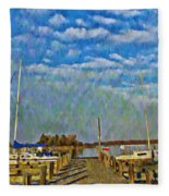 The Dock Of The Bay Fleece Blanket
