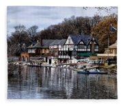 The Docks At Boathouse Row - Philadelphia Fleece Blanket