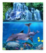 The Dolphin Family Fleece Blanket