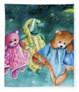 The Doo Doo Bears Fleece Blanket
