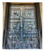 The Door At The Parthenon In Nashville Tennessee Fleece Blanket