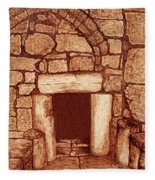 The Door Of Humility At The Church Of The Nativity Bethlehem Fleece Blanket