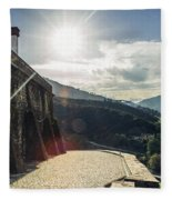 The Douro River Valley Fleece Blanket