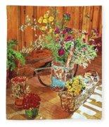 The Dried Flower Shop Fleece Blanket