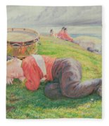 The Drummer Boy's Dream Fleece Blanket