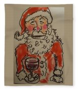 The Drunken Santa Fleece Blanket