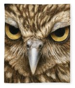 The Dubious Owl Fleece Blanket