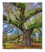 The Dueling Oak 2 Fleece Blanket